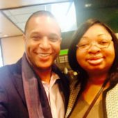 With Anchor Craig Melvin, Delta Sky Club, January 2015